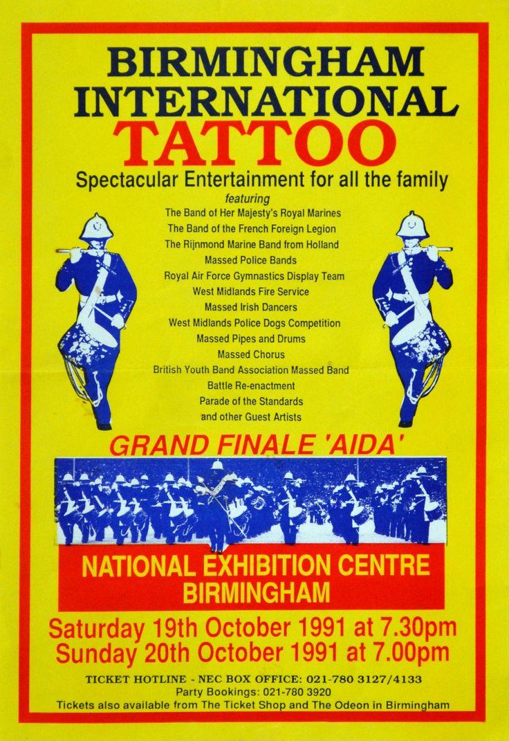 BIRMINGHAM TATTOO --------------      19 oktober 1991 - muzikaal spek-takel met internationaal bekende korpsen