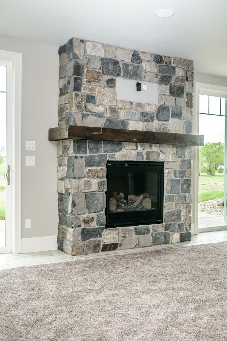 Living room fire place ideas and Lake house family room