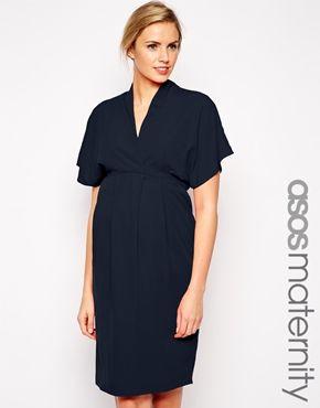 ASOS Maternity Work Wear Dress With Kimono Sleeve