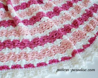 crochet blanket pattern baby boy blanket baby girl PDF pattern