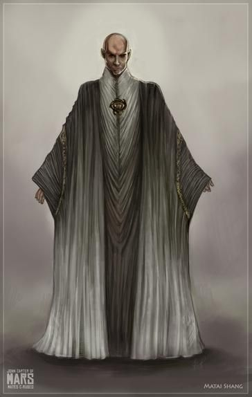 Concept are for Thern priest in Disney's John Carter