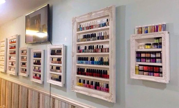 Excited to share the latest addition to my #etsy shop: Salon racks nail polish shelf hairdressers display beauty salon organisers made to order so you tell me what colour you would like x
