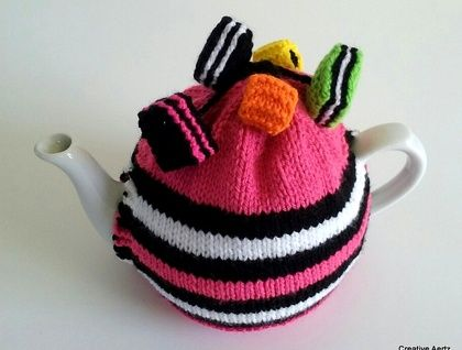 Licorice Allsorts Tea Cosy (Your Choice of Colours)