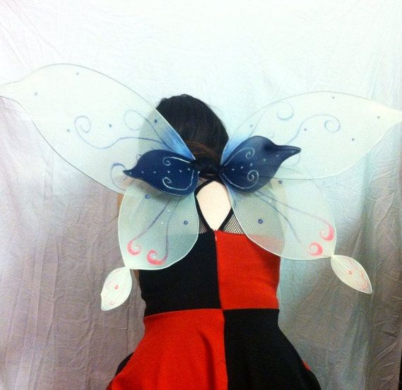 Handmade customizable fairy wings with glow in the dark accents! https://www.etsy.com/listing/242043400/pale-moon-fairy-wings-with-glow-in-the