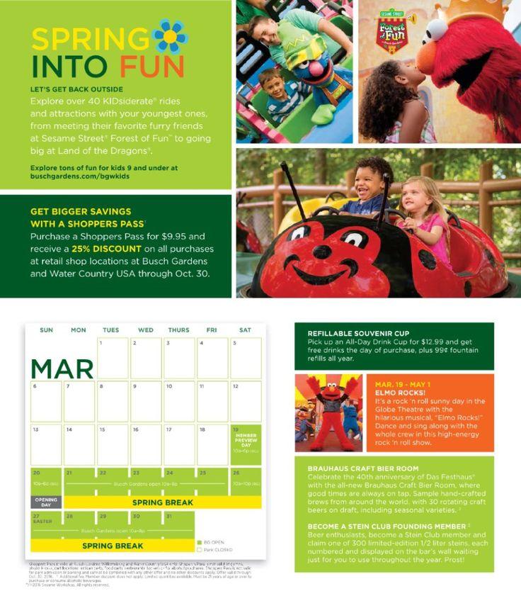 Busch Gardens Williamsburg 2016 Map & Fun Tracker (With