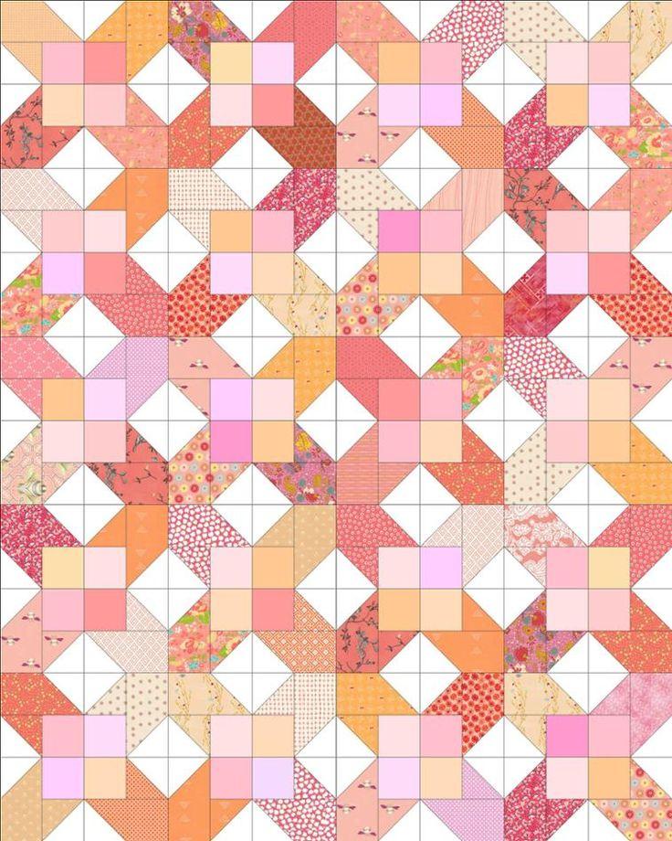 X-Squared Quilt Block | Craftsy
