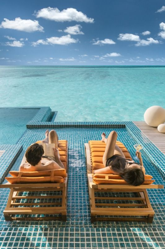 Experience luxury and 1st class services at, Club Med Kani, in the Maldives beside the Indian Ocean.