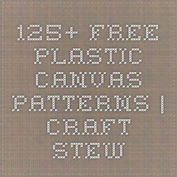 125+ Free Plastic Canvas Patterns | Craft Stew:
