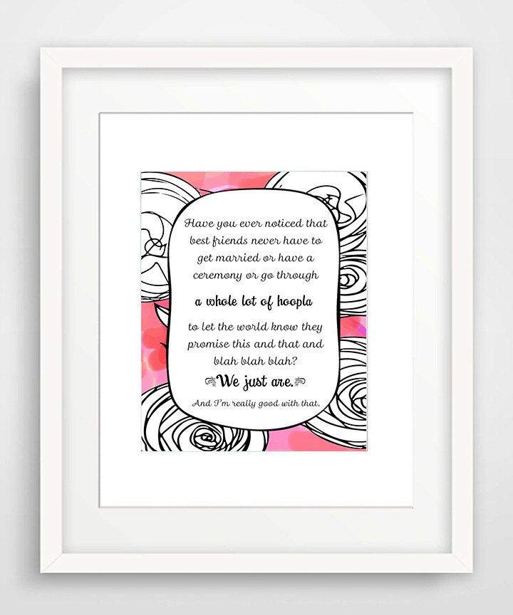 Best Friend Birthday Gift | A Whole Lot of Hoopla - Pink | Art Matted Art Print for Best Friend | Best Friend Quote | Best Friends by KatMariacaStudio on Etsy