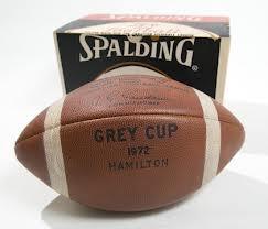 Spalding 1972 Hamilton Grey Cup Football!  Hamilton Tiger Cats at Hamitlon vs Saskatchewan Roughriders - Hamilton Grey Cup Win 1972