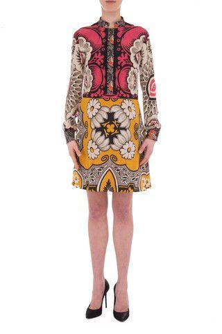 Valentino silk multicolour dress - LuxuryProductsOnline