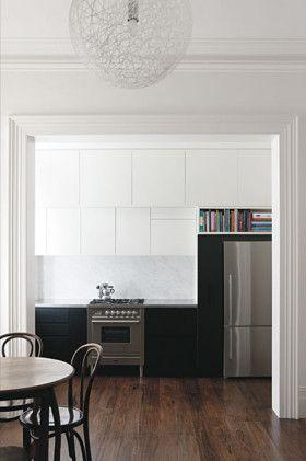 classic black and white_wood floors_via homelife.com.au