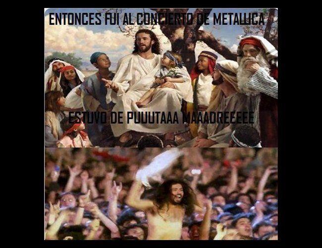 meme-jesus-en-concierto-de-metallica: http://ramrock.wordpress.com/2014/12/20/chicas-sexy-humor-diverso-y-diversion-que-es-sabado-y-vispera-de-fiestas-cones/