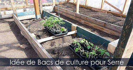 serre de jardin construire des bacs de culture pour serre id e de bacs en bois pour culture. Black Bedroom Furniture Sets. Home Design Ideas