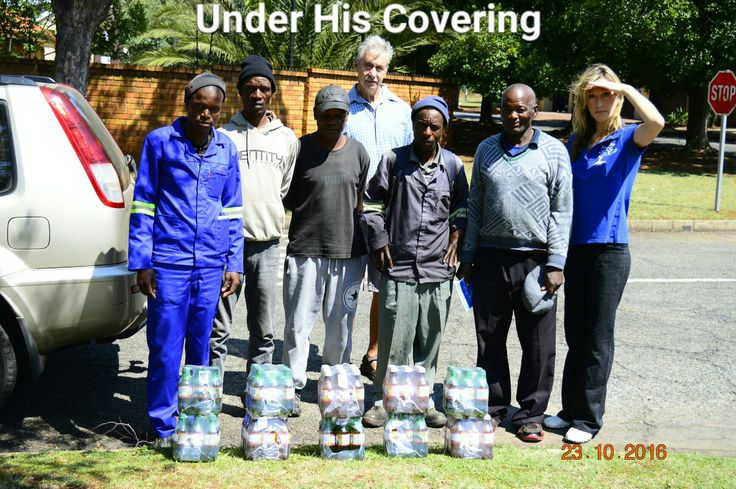 Under His Covering.  Carike Pretorius Founder and director of Under His Covering.  Doing a street reach on the East Rand