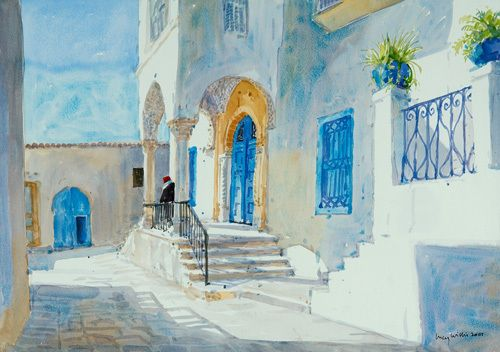 Sidi Bou Said - Lucy Willis Prints - Easyart.com