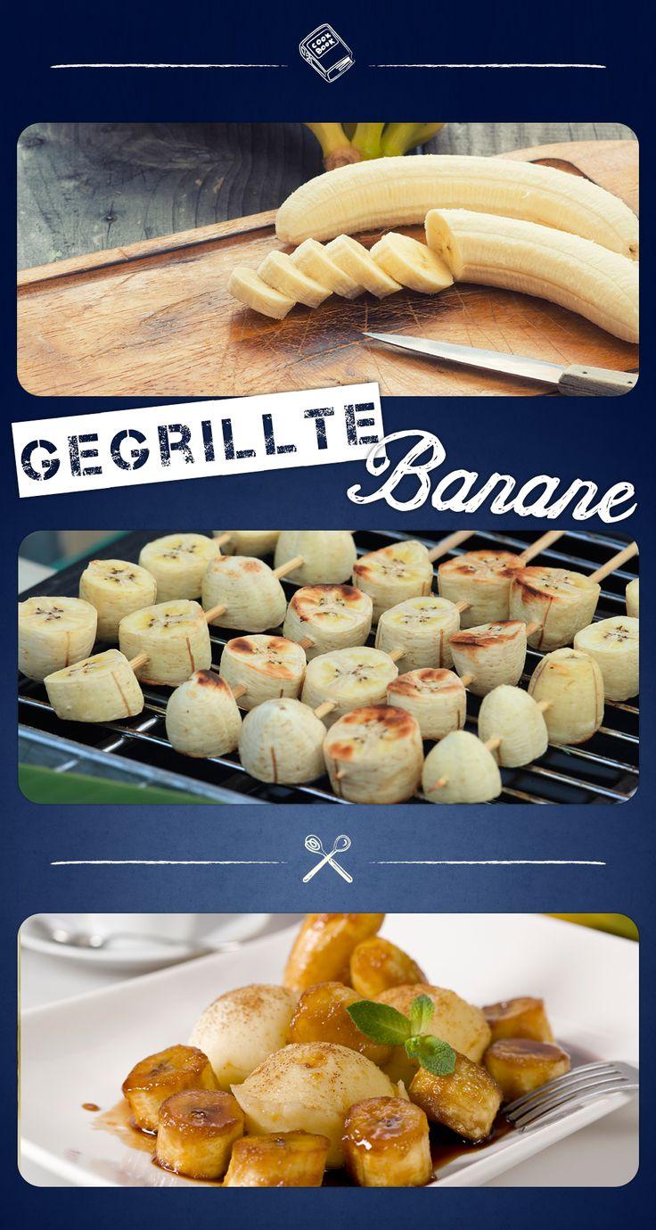 Bananen kann man grillen? Aber natürlich. Das süß-herbe Obst schmeckt gegrillt besonders lecker und saftig. Nach dem Grillen kann man die Bananen mit süßem Honig genießen.