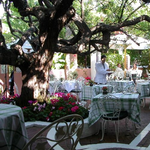 The Patio at The Polo Lounge at The Beverly Hills Hotel