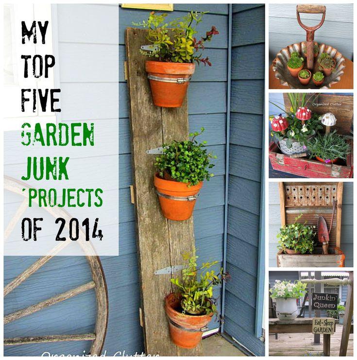 Garden Junk Ideas Galore 2014 Round Up: 17 Best Images About Junk Gardening