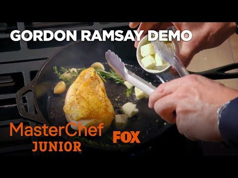 (20) Gordon Ramsay Demonstrates How To Cook A Perfect Chicken Breast | Season 6 Ep. 2 | MASTERCHEF JUNIOR - YouTube