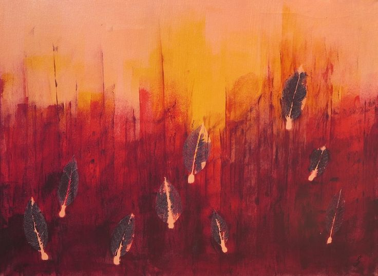 Out of fire 80 x 60 cm