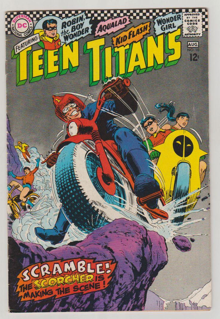 "mrrubbersuitman: ""Teen Titans; Vol 1, 10, Silver Age Comic Book. FN-. August 1967. DC Comics """