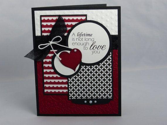 Stampin Up Handmade Greeting Card: Valentine's Day Card,  Valentine Wedding, Anniversary, Husband, Wife Boyfriend Girlfriend Fiance Birthday