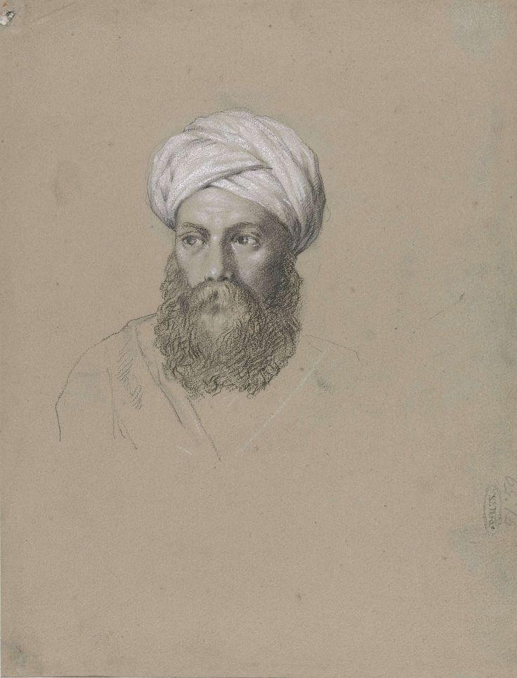 Hendrik Willem Cramer | Hoofd van een Arabier met tulband, Hendrik Willem Cramer, 1828 |