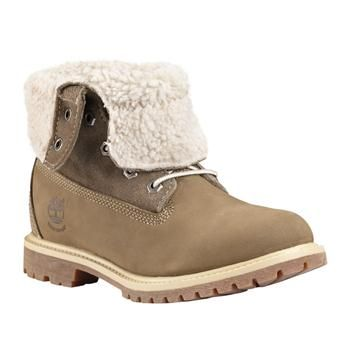 TA TEDDY FLEECE WATERPROOF FOLD DOWN BOOT TIMBERLAND - BOOTS BASSES ET FOURRÉES FEMME CHAUSSURES - #timberland #8330R #taupe