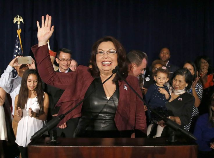 For the first time in history, Illinois will simultaneously have Asian-American elected officials at federal, state, and county levels of government in an example of growing Asian-American political power - Image: Tammy Duckworth