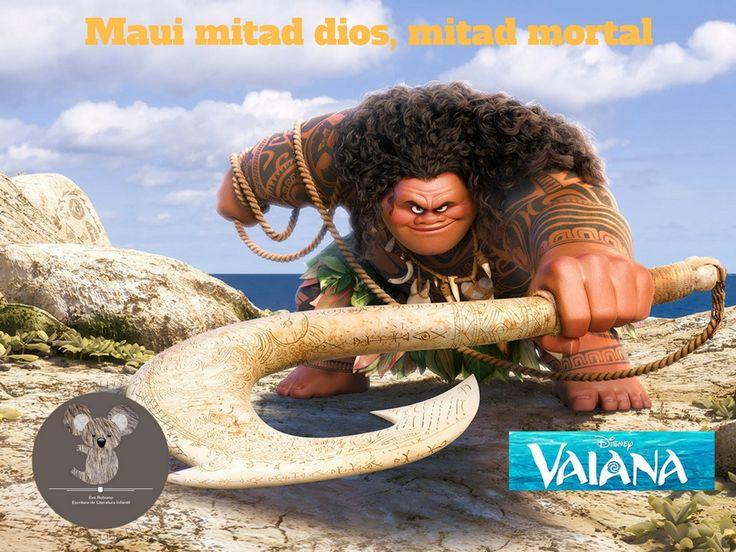 Maui es un semidiós, ayuda a Vaiana a llegar hasta Tefiti. #vaiana #evarubiano @evarubiano #cineparaniños #estrenos