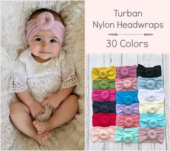 Girl Soft Cute Headwrap Hat Infant Toddler Kids Baby Turban Headband Set