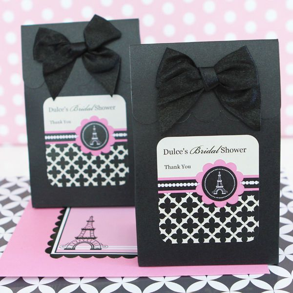 bridal shower wedding candy boxes bags favors paris bridal shower ...