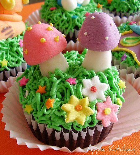 Mushrooms & Dainty Flowers - Sweet