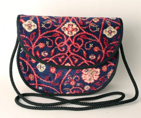 Betty bag in Red Geo print - www.CarpetBags.co.uk
