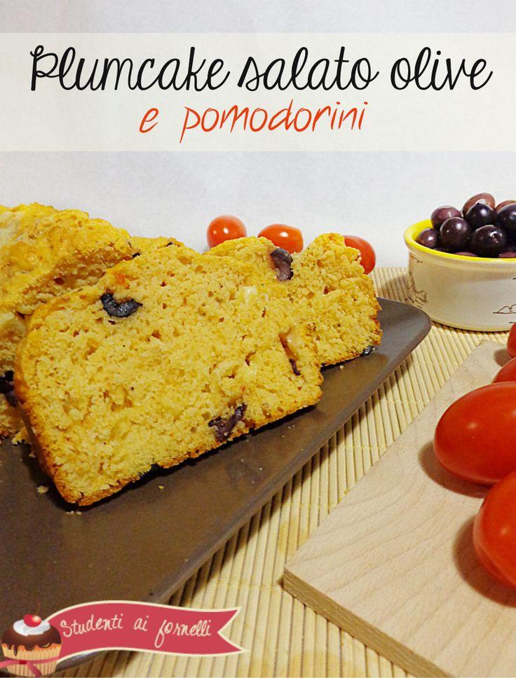 Plumcake salato Olive Pomodorini Formaggio by studentiaifornelli