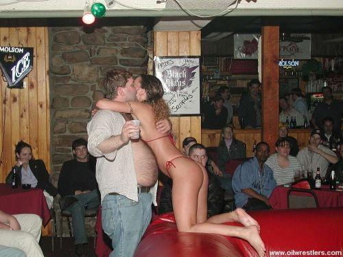 Erotic oil wrestling wonder love