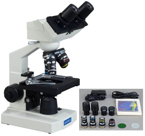 AmazonSmile: OMAX 40X-2000X Digital Lab LED Binocular Compound Microscope with Built-in 1.3MP USB Camera and Double Layer Mechanical Stage: Electronics