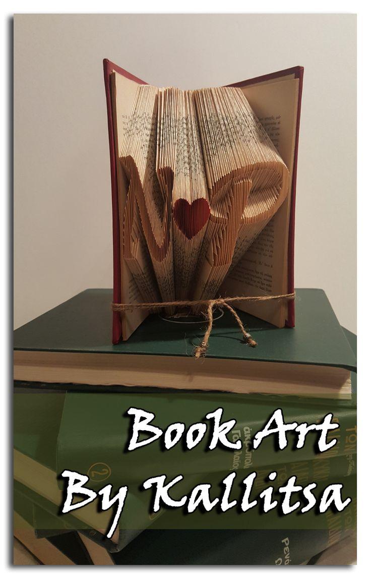 Δώρο ♥ Μονογράμματα ♥ Καρδιά ♥ Letters ♥ Book Folding ♥ Book Art ♥ Book Art By Kallitsa ♥ Δώρο για επέτειο γάμου ή σχέσης. #bookartbykallitsa #bookfolding #βιβλίο #ιδέες #δώρα