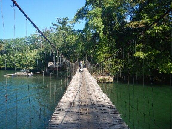 Suspension bridge Pangandaran Jawa barat Indonesia