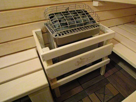 Custom sauna heater guard sauna and meditation room for Do it yourself sauna kit