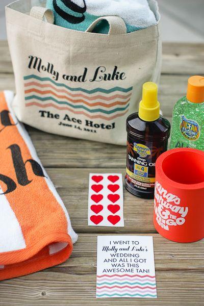 Ace Poolside Wedding Reception From Jesi Haack Design Destination FavorsWedding Gift