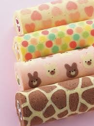 decorated roll cake - Cerca con Google