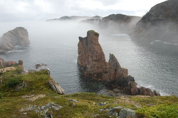 If theres ever been a mysterious looking place its this- French Beach Newfoundland