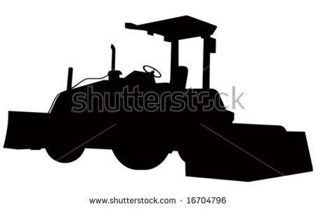 Bulldozer silhouette  #bulldozer #silhouette #illustration