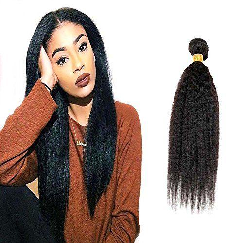 [Promotions]Yiya (10″-26″) Trame de Cheveux Noir Naturels 100gramme Tissage Bresilien Kinky Straight 100% Human Tissage de Cheveux 14″/35cm…