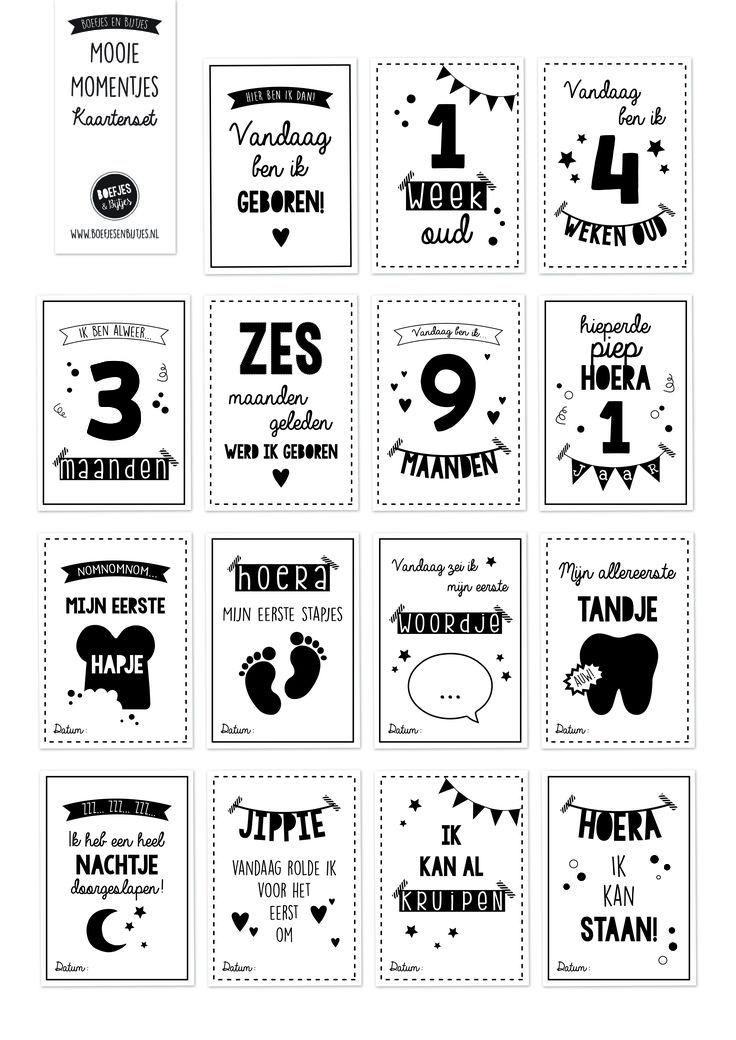 Leg de mooie momentjes van jouw kindje vast met Boefjes en Bijtjes' Mooie Momentjes Kaartenset / Mijlpaal kaarten. Ook erg leuk als cadeautje! €14,95!!
