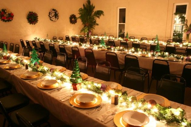 Christmas table decorations http