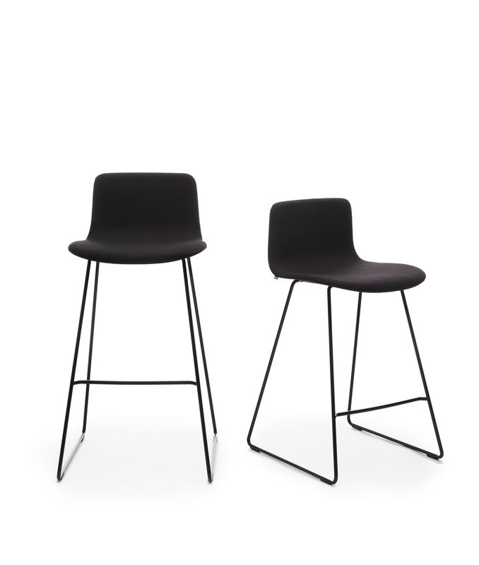 The Sola bar stool designed by Antti Kotilainen has two different heights and its clear form make the stool easily fit in different type of spaces.