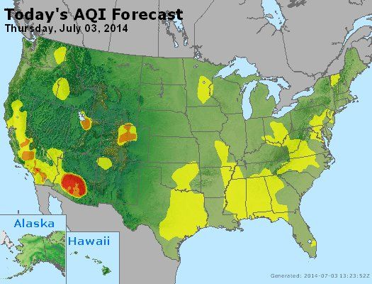 Best Things To Remember On Th Of July Images On Pinterest - Best air quality in us map